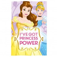 Blanket Plaid DISNEY PRINCESS POWER Belle and Cinderella 150x100cm ORIGINAL