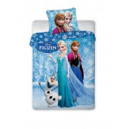 Bed Set FROZEN Anna Elsa Olaf SNOWFLAKES Disney DUVET COVER 160x200 Cotton