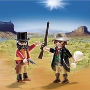 Box 2 Figures 2-Pack SHERIFF and BANDIT Far West Playmobil 5512