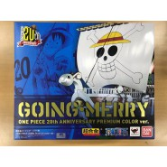 Modello DieCast GOING MERRY Nave ONE PIECE 20. Anniversario Premium Color CHOGOKIN Bandai Japan