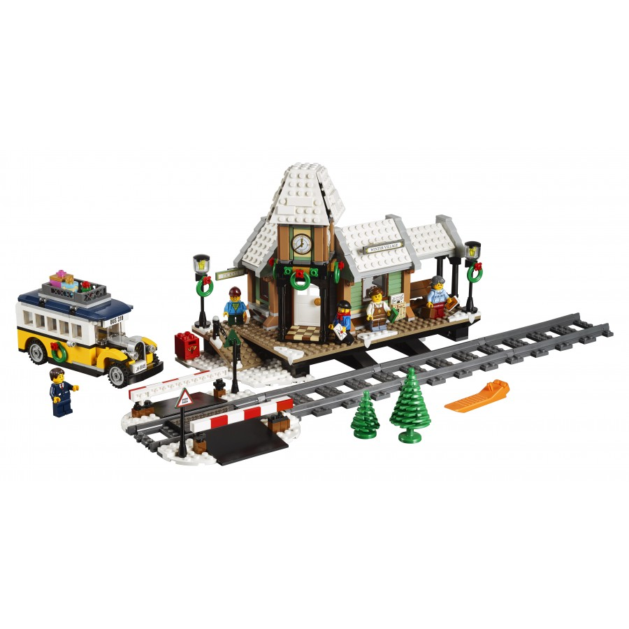 Train Station Winter Village Playset Lego Creator Expert 10259