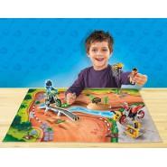 Playset GARA DI MOTOCROSS Mappa Gioco Play Map PLAYMOBIL 9329