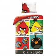 BED SET Duvet Cover ANGRY BIRDS Join The Flock COTTON Original Rovio