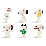 Lotto 6 Diverse Figure 5cm SNOOPY E AMICI Peanuts And Friends Originali Schleich