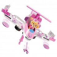 PAW PATROL Playset Veicolo SKYE Trasformabile FLIP AND FLY Originale SPIN MASTER