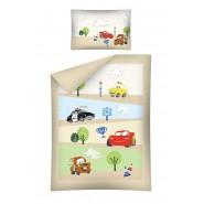 Bed Set BABY Disney CARS ROAD Strada McQueen Saetta Mater Luigi DUVET COVER 100x135 100% COTTON
