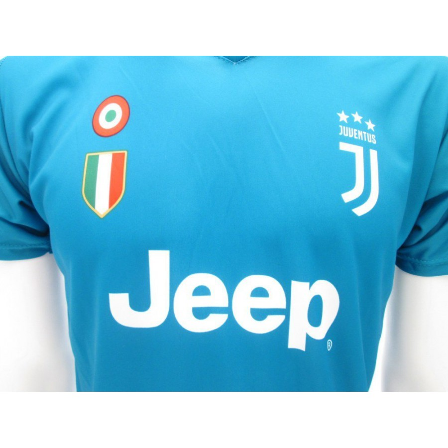 free shipping 561a3 8ef24 BUFFON Number 1 Goalkeeper JUVENTUS 2017/2018 T-Shirt Jersey BLUE AWAY  Official Replica