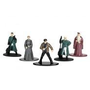 HARRY POTTER Set 5 Mini Figure IN METALLO 4cm HARRY SILENTE DRACO MINERVA FLINT Originali JADA Toys WARNER BROS