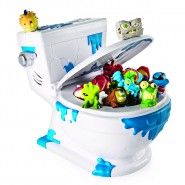 Flush Force MEGA WC Water CONTENITORE + 4 Personaggi FLUSHIES originale SPIN MASTER