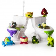 Flush Force CONFEZIONE Speciale SERIE 1 con 2 WC Water + 8 Personaggi FLUSHIES Bizzarre Bathroom ORIGINALE