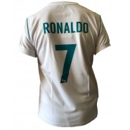 CRISTIANO RONALDO Number 7 REAL MADRID CF Jersey 2017/2018 White Blue T-SHIRT Replica OFFICIAL Authentic