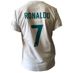 outlet store 9c5e0 9c88c CRISTIANO RONALDO Number 7 REAL MADRID CF Jersey 2017/2018 White Blue  T-SHIRT Replica OFFICIAL Authentic