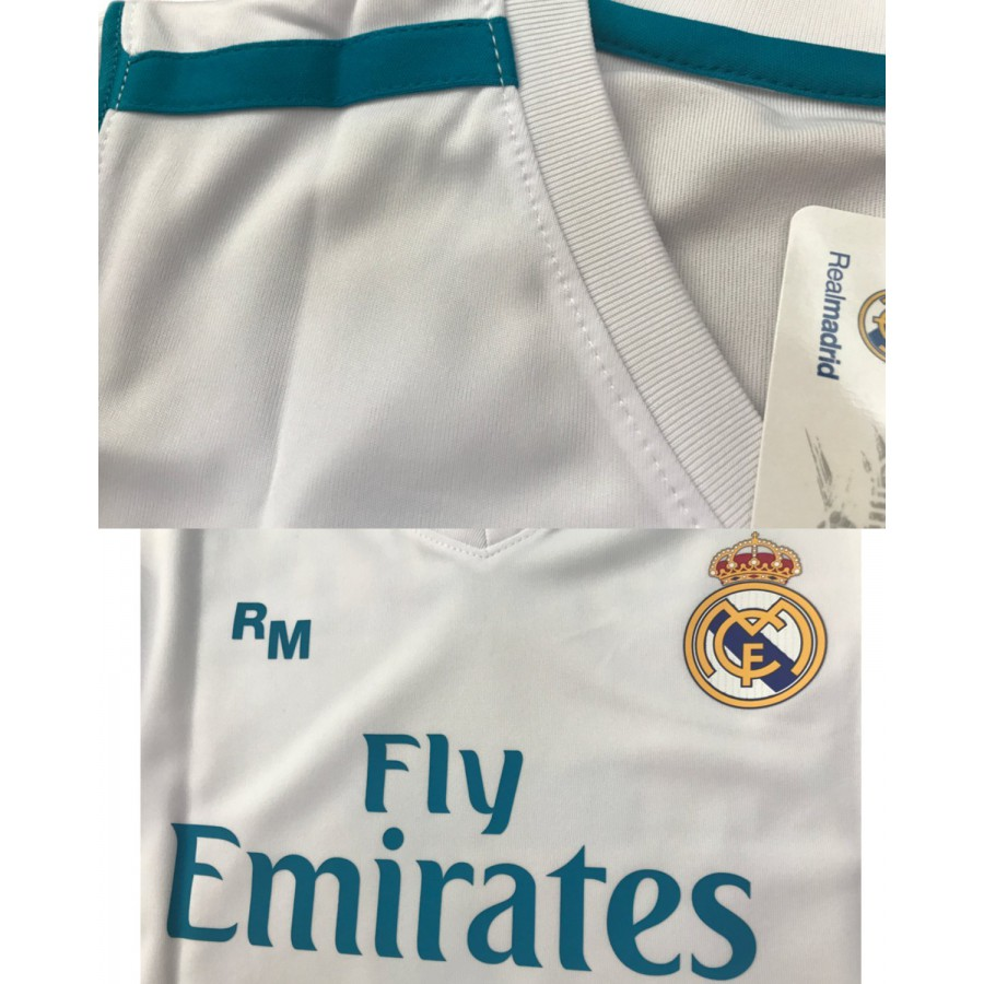 outlet store 440f7 eebb3 CRISTIANO RONALDO Number 7 REAL MADRID CF Jersey 2017/2018 White Blue  T-SHIRT Replica OFFICIAL Authentic