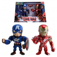 CAPITAN AMERICA e IRON MAN Special BOX 2 Figure 10cm METALLO da MARVEL CIVIL WAR Originale JADA TOYS