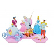CENERENTOLA Set 6 Figure Collezione GRANDI 7cm DIORAMA Cinderella DISNEY Tomy Originali