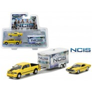 NCIS Set Models 2015 RAM and 1970 DODGE CHALLENGER RT with TRAILER Scale 1/64 Greenlight