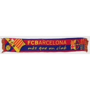 SCARF Original FCB Football Club BARCELONA Mas Que Un Club 140x22cm OFFICIAL Barca