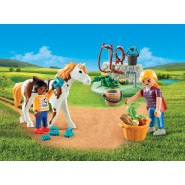 Playset Valigetta CURA DEL CAVALLO HORSE GROOMING City Action PLAYMOBIL 9100