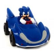 SONIC All Stars Racing TRANSFORMED Personaggio SONIC e Veicolo PULL BACK Racer TOMY Sega