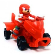 SONIC All Stars Racing TRANSFORMED Character KNUCKLES and Vehicle PULL BACK Racer TOMY Sega