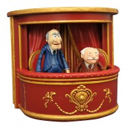 The MUPPETS Figura Diorama STATLER e WALDORF sul PALCO Originale Diamond SELECT
