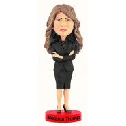 Figura MELANIA TRUMP 20cm Moglie Donald Presidente USA BOBBLE HEAD Resina ROYAL BOBBLES Head knocker
