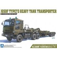 Kit Montaggio Militare JGSDF TYPE 73 HEAVY TANK TRANSPORTER Camion Trasporto Carri Scala 1/72 AOSHIMA