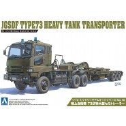 Plastic Model Kit Military JGSDF TYPE 73 HEAVY TANK TRANSPORTER Scale 1/72 AOSHIMA Japan