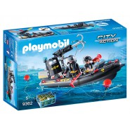 Playset GOMMONE Canotto ASSALTO Unita' Speciale PLAYMOBIL City Action 9362
