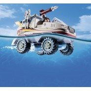 Playset AMPHIBIOUS Enemy Gangster CAR with ENGINE City Action PLAYMOBIL 9364