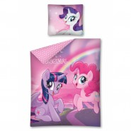 Set Letto MY LITTLE PONY Pinkie Pie e Twilight Sparkle 160x200cm Copripiumino Federa COTONE