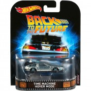 DieCast Car Model DELOREAN Time Machine HOVER Flying MODE from BACK TO THE FUTURE 2 Scale 1/64 Hot Wheels DWJ76