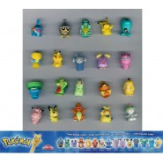 RARE SET 20 Mini Figures POKEMON Pencil Toppers ORIGINAL Dolci Preziosi Gashapon ITALY