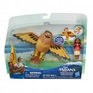 VAIANA Box 2 Figure VAIANA e MAUI SEMI-DIO Uccello 22cm ORIGINALI HASBRO Oceania Moana