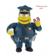 Figura Action COMMISSARIO WINCHESTER Wiggum Parlante 15cm Originale THE SIMPSONS