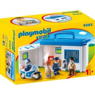 Playset CENTRALE DELLA POLIZIA Portatile 1.2.3. Baby PLAYMOBIL 9382
