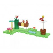 Playset Deluxe ACORN PLAINS Con Figura SUPER MARIO FUOCO Serie MICRO LAND World Of Nintendo