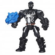PLAYSET Giocattolo Figura Action 16cm AGENT VENOM Uomo Ragno Marvel SUPER HERO MASHERS Hasbro