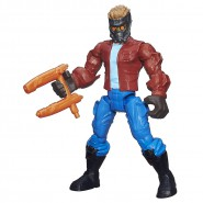 PLAYSET Giocattolo Figura Action 16cm STAR-LORD Peter Quill Guardiani Galassia Marvel SUPER HERO MASHERS Hasbro