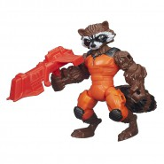PLAYSET Giocattolo Figura Action 16cm ROCKET RACCOON Procione Guardiani Galassia Marvel SUPER HERO MASHERS Hasbro