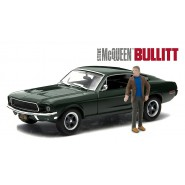 DieCast Car Model FORD MUSTANG GT From Movie BULLIT With Figure STEVE McQUEEN Scale 1/43 Greenlight