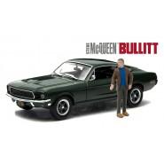 Modello DieCast Auto FORD MUSTANG GT dal Film BULLIT Con Figura STEVE McQUEEN Scala 1/43 ORIGINALE Greenlight