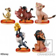Set 5 Figure THE LION KING Il Re Leone DISNEY Banpresto WORLD COLLECTIBLE FIGURES Story 07 WCF