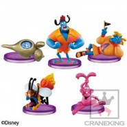Set 5 Figure GENIE COLLECTION Genio Lampada ALADINO Aladdin Disney Banpresto WORLD COLLECTIBLE FIGURES WCF