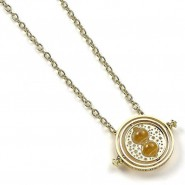 HARRY POTTER Metal Necklace with Hermione's TIME TURNER Pendant ORIGINAL Warner Bros