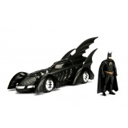 Modello BATMOBILE da JUSTICE LEAGUE 22cm con Figura BATMAN Scala 1/24 Originale JADA Toys