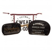 HARRY POTTER Travel Set 3 Beauty BAGS NIMBUS 2000 Solemn Swear ORIGINAL Bioworld