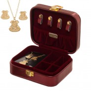 HARRY POTTER Hogwarts School JEWELRY BOX with NECKLACE and EARRINGS Original Official