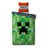 MINECRAFT Single Bed Set CACTUS and TNT Creeper Original DUVET COVER 140x200cm Cotton OFFICIAL