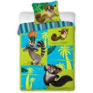 MADAGASCAR Bed Set KING JULIAN and MORT Cotton DUVET COVER 160x200cm ORIGINAL